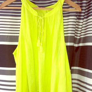 NWT LILLY PULITZER NEON YELLOW BLOUSE